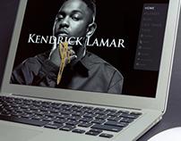 Kendrick Lamar website UI/UX designs