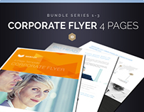 Corporate Flyer Bundle 4 Pages Series 1-3