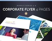 Corporate Flyer Bundle 4 Pages Series 4-6