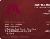 La Maison Hospitality Service Business Card