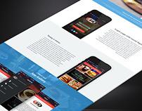 Free PSD A&W app landing page