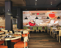 new design of restaurant Yaposha