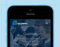 Informal Informática Website Concept