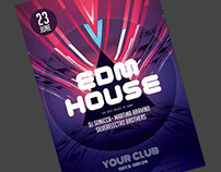 EDM House Flyer