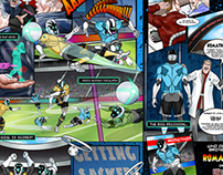Character Design & Comic Art: HTC Future of Football
