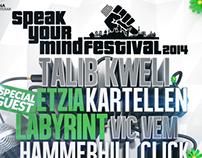 Speakyourmind festival - Poster