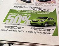 Avisos para diario AMSA-CHEVROLET