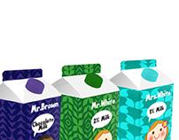 Pinte de lait / Milk Carton : Mr & Mrs White