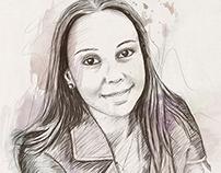 Sarah - Aquarela