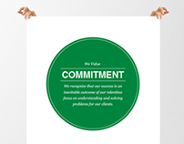 Corporate Values Posters