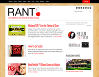 Rant Blog Design, 2013