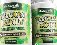 Yacon Root Label Design
