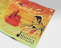 identidad y grafica para Escuela de Música D. R. Avero