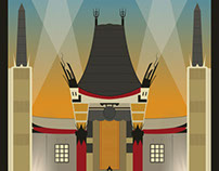 Chinese Theater Poster Illustration