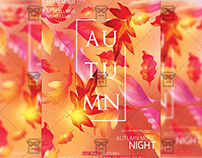 Autumn Night Out - Seasonal A5 Flyer Template