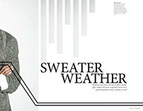 Sweater Weather: Magazine Spreads