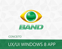 Conceito de UI/UX Band Windows 8 App