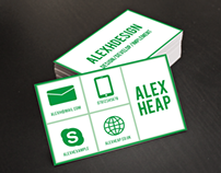 Green Metro Style Business Card