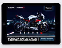 Triumph Street Triple - Interactive advert