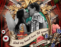 Romeo + Juliet Illustration for 20th Century Fox Social