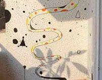 'Serpent Sesha' - Wall Mural