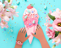 Ice Cream | Paper art