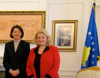 KOSOVO PRESIDENT VISIT