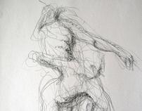 Série de desenhos de movimento e modelação