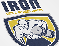 Iron Gym and Fitness Center Logo Template