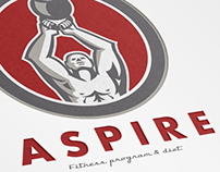 Aspire Fitness Program and Diet Logo Template