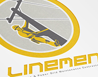 Linemen Electricians Power Logo Template
