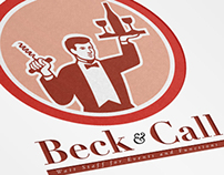 Beck and Call Waiters for Events Logo Template