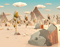 Low Poly Snow Landscape