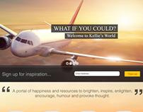 In Kellies World Landing Page