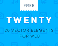 TWENTY: Line vector set for web