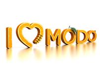 'I love MODO' - 3d text.