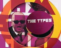 """CD Cover for """"the TYPES"""""""