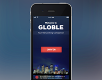 Globle Mobile Welcome Screen