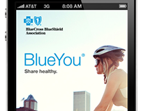 Blue Cross Blue Shield mobile app concept