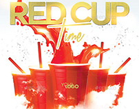 Red Cup Time | Night Party PSD Flyer Template