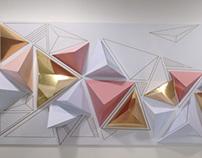 Geometrical wall decor -reused