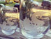 Etched Jayhawk