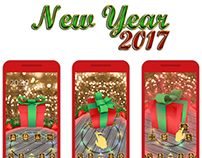 New Year 2017 3D Theme