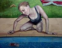 21st Century Narcissus - after Caravaggio