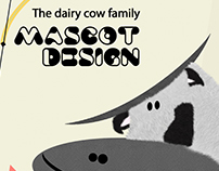 Mascot design for dairy product.