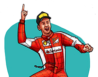 Vettel: Prima vittoria con la Scuderia Ferrari