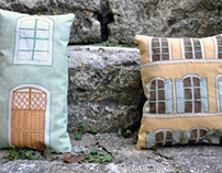 Embroidered House Pillows