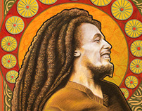 Bob Marley in the spirit of art nouveau