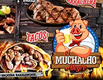 EL MUCHACHO ALEGRE, Restaurant Bar / Flyer