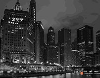 Chicago in black and white